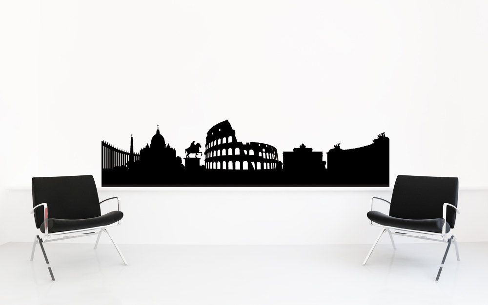 Rome Skyline Rome Italy Rome Wall Art Skyline Decal Wall Decal