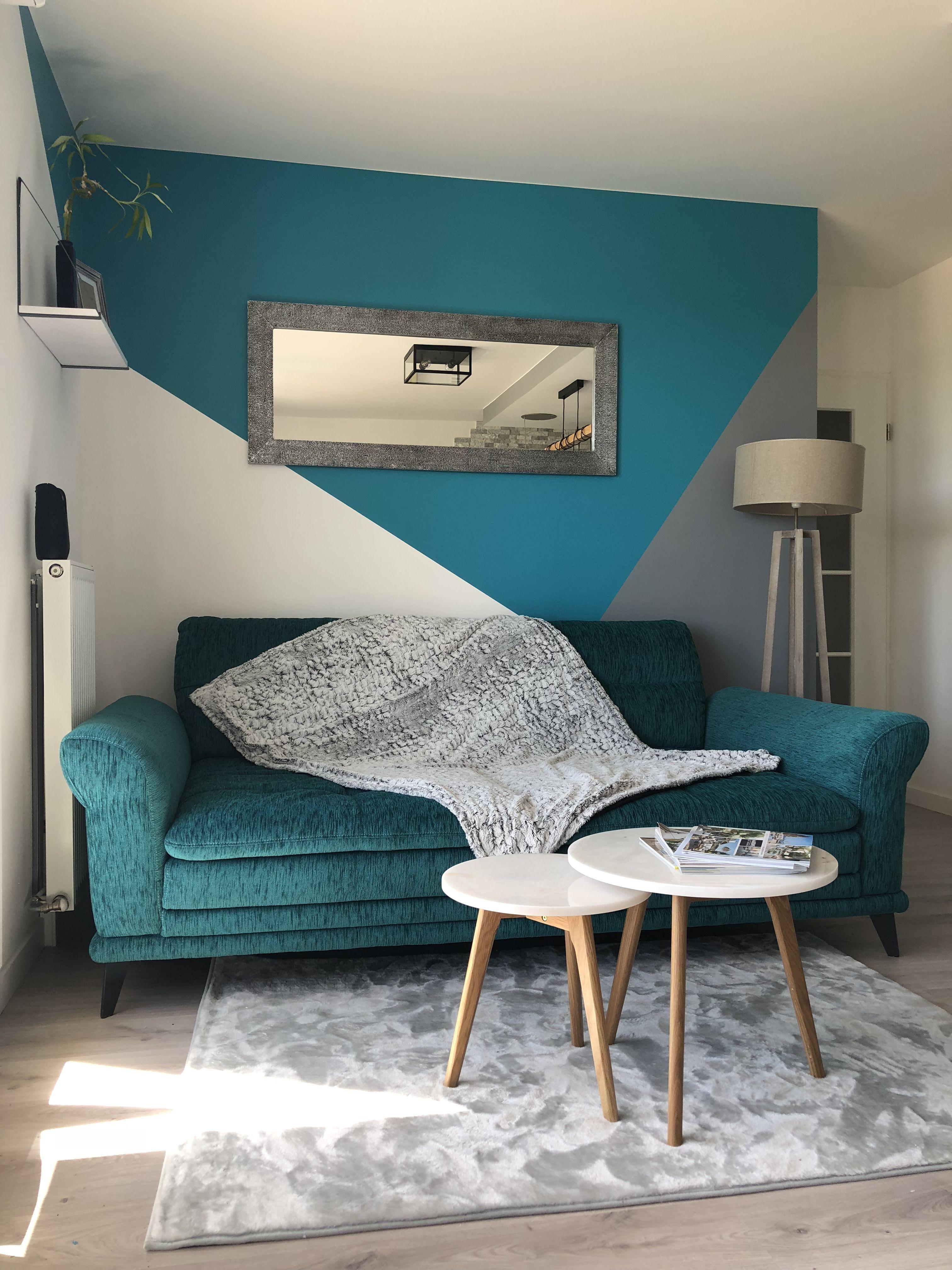 Salon Bleu Gris Deco Chambre Deco Mur Deco Chambre Bleu