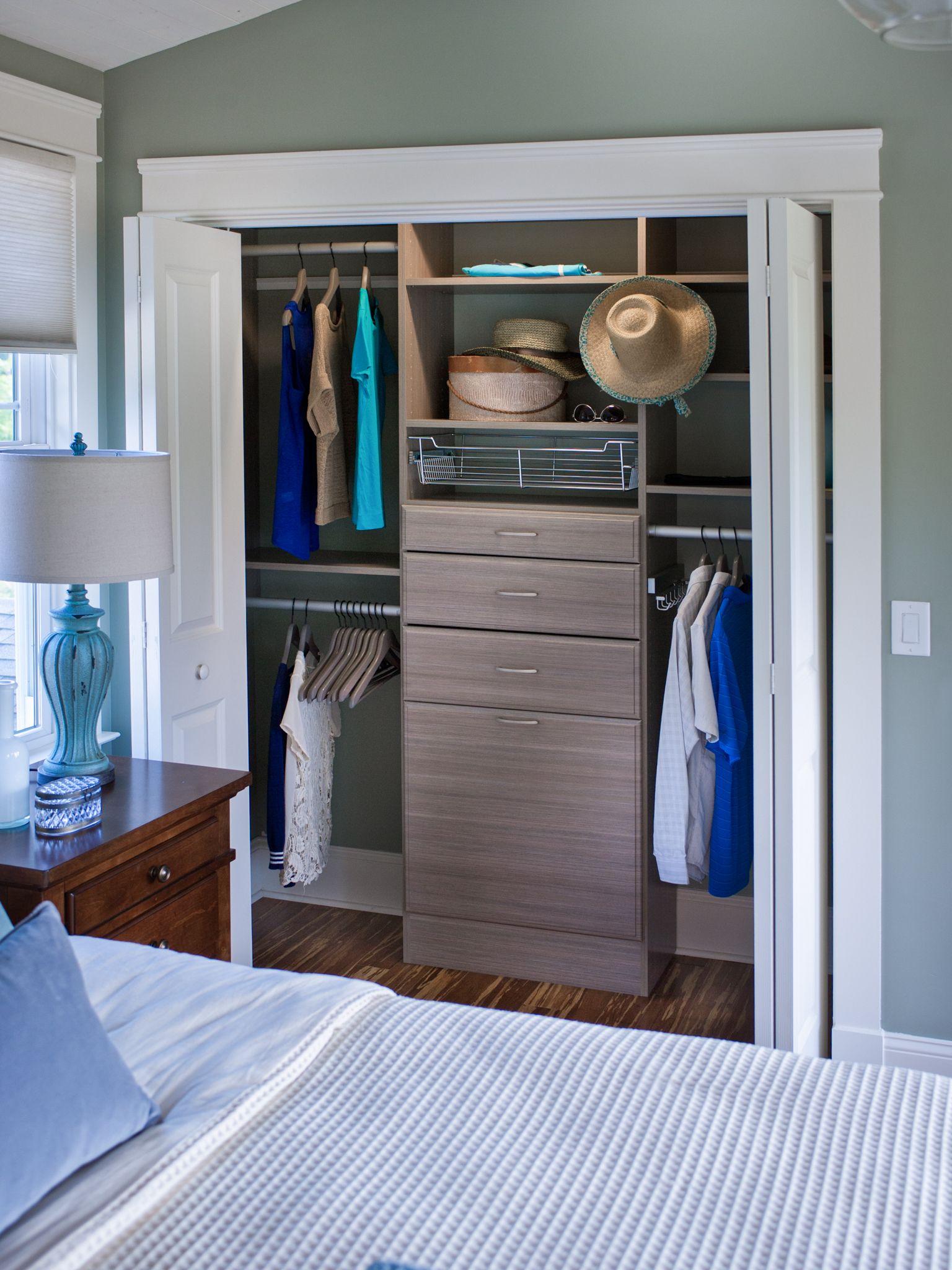 ReachIn Closet with Drawers Closet furniture, Custom