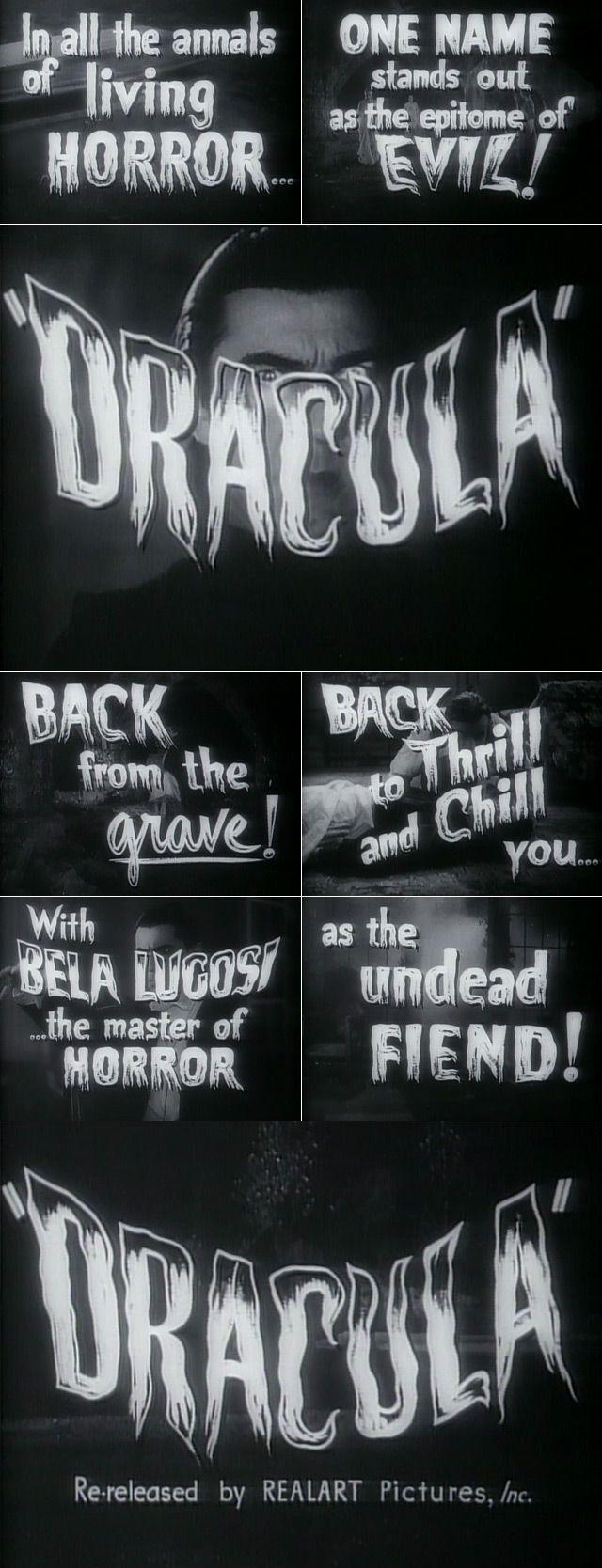 Dracula (1931) Retro horror, Horror, Horror posters