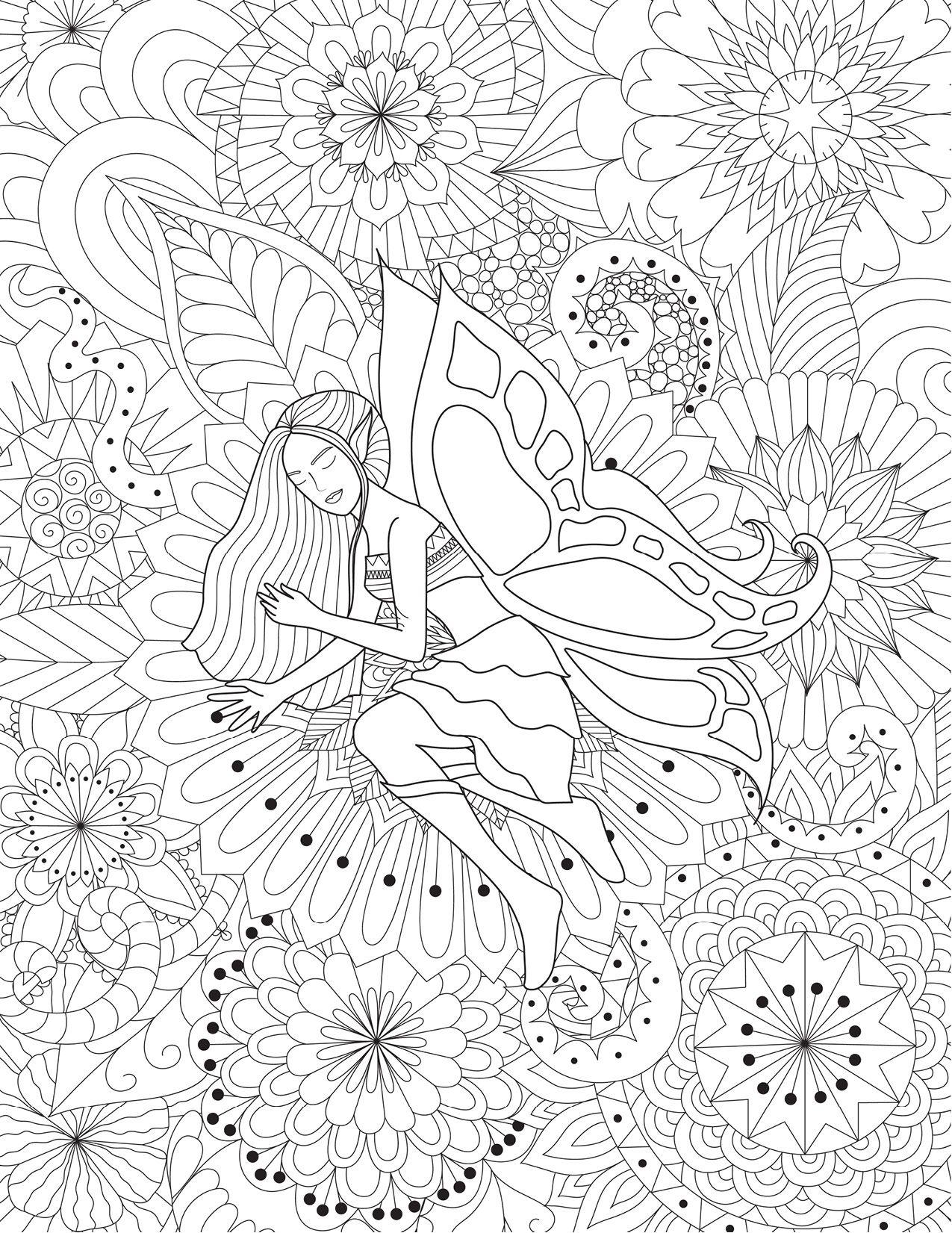 Mandalas Avec Fee Coloriage Tres Difficile A Imprimer Coloriage