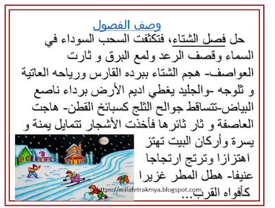 ملفات رقمية عبارات في وصف الفصول الربيع الصيف الخريف ال Arabic Alphabet For Kids Learning Arabic Arabic Alphabet