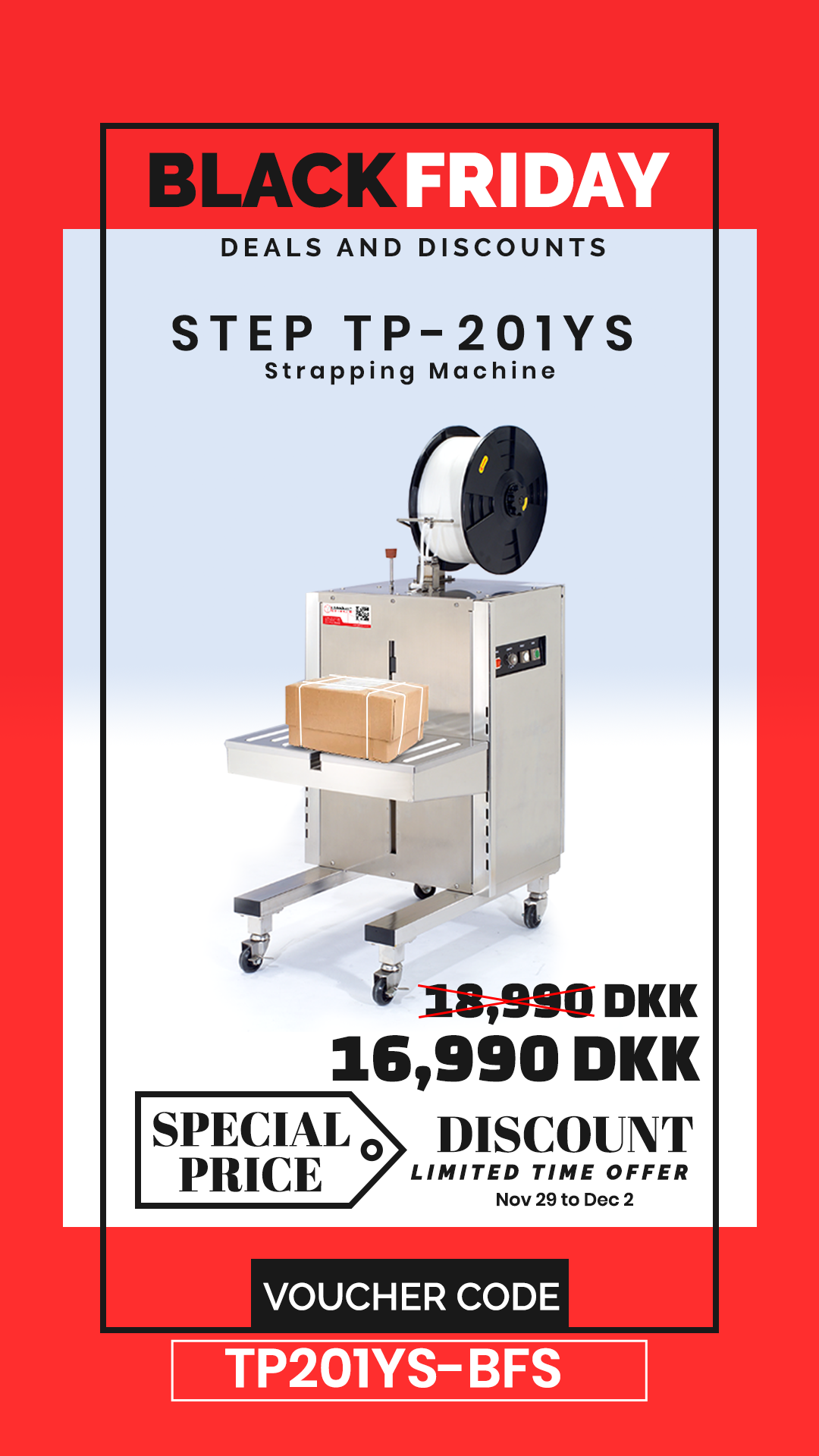Step Tp 201ys Side Seal Semi Automatic Strapping Machine Locker Storage Automatic Black Friday 2019