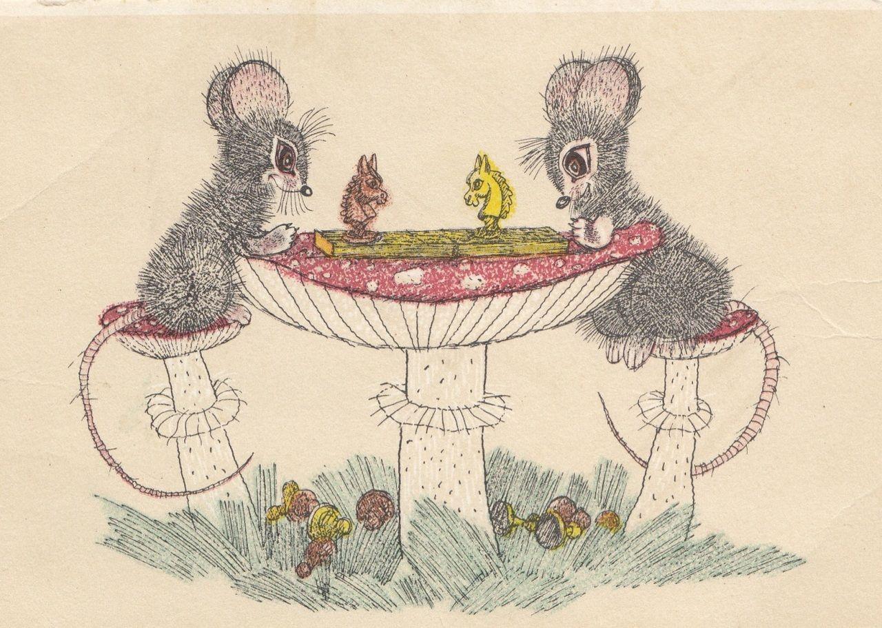 также картинки с советских открыток мыши недостатков таких