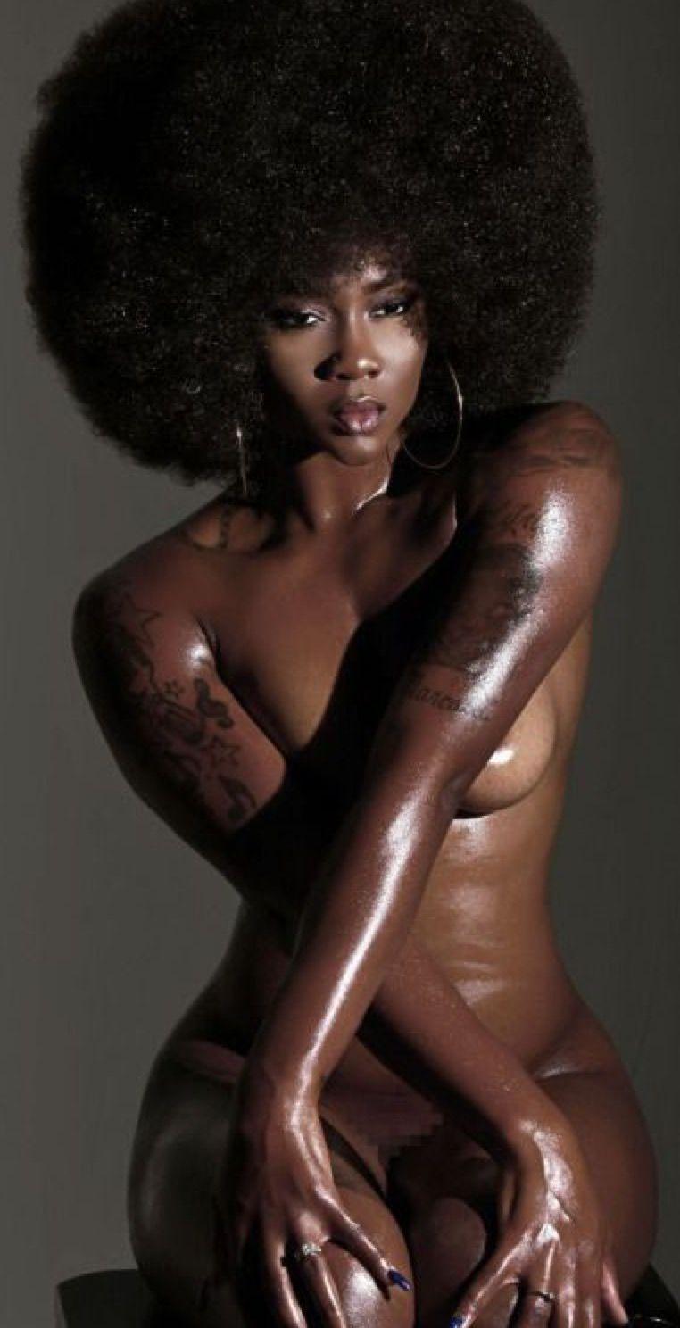 Free ebony strap on