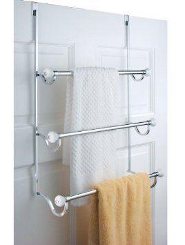 Amazon Com Chrome Over Door Towel Rack Holder Bathroom Shower 32 00 Towel Rack Towel Hangers For Bathroom Shower Doors