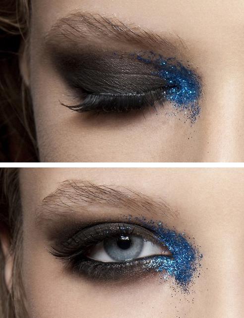 Mark Fast, Spring 2011 Makeup Mancha de azul   Makeup ...