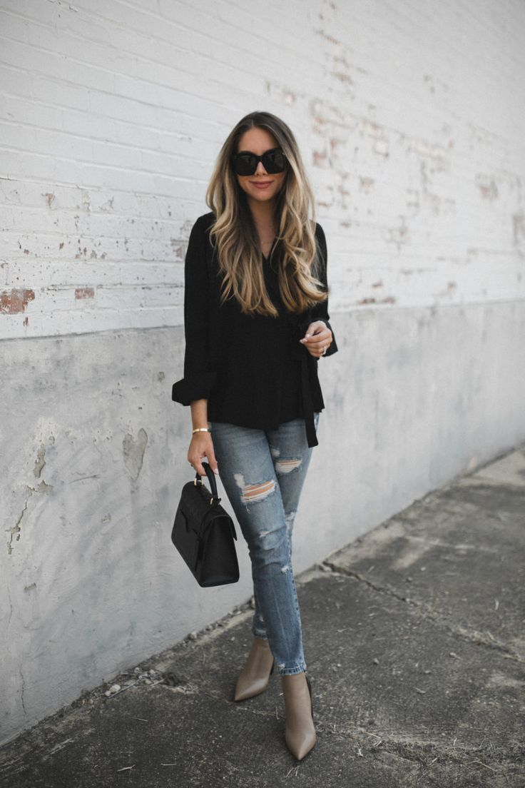 casual Fall style #styleblogger #fallbooties
