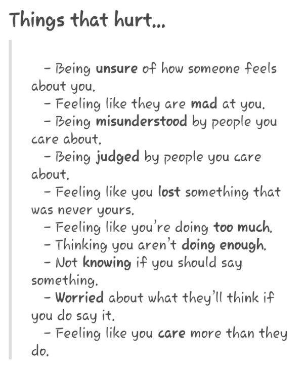 Things that hurt