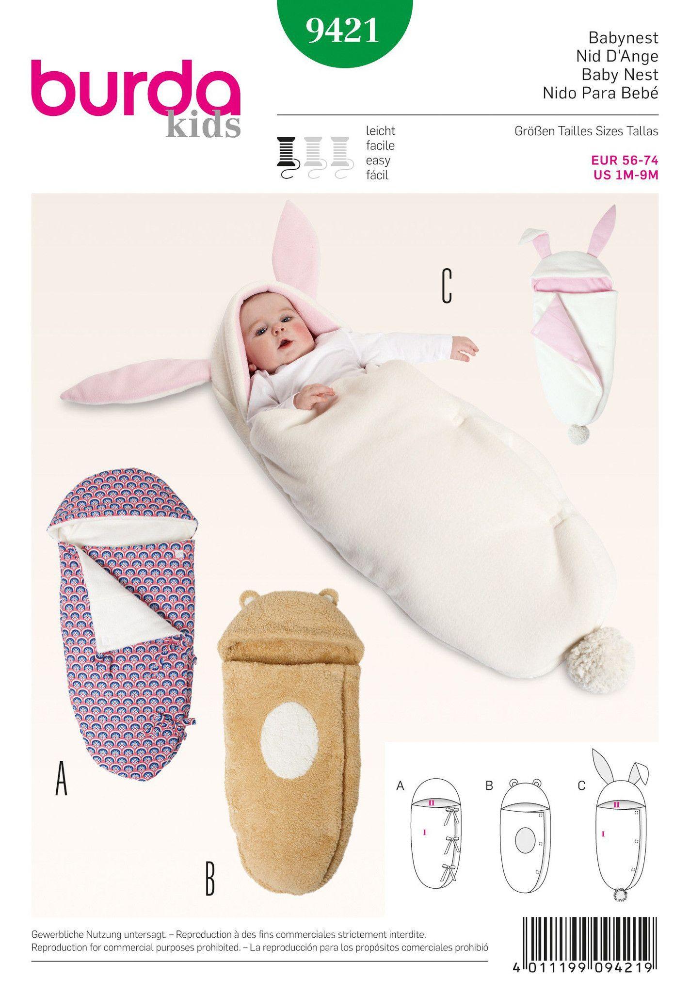Burda Pattern: BD9421 Baby Nest — jaycotts.co.uk - Sewing Supplies ...