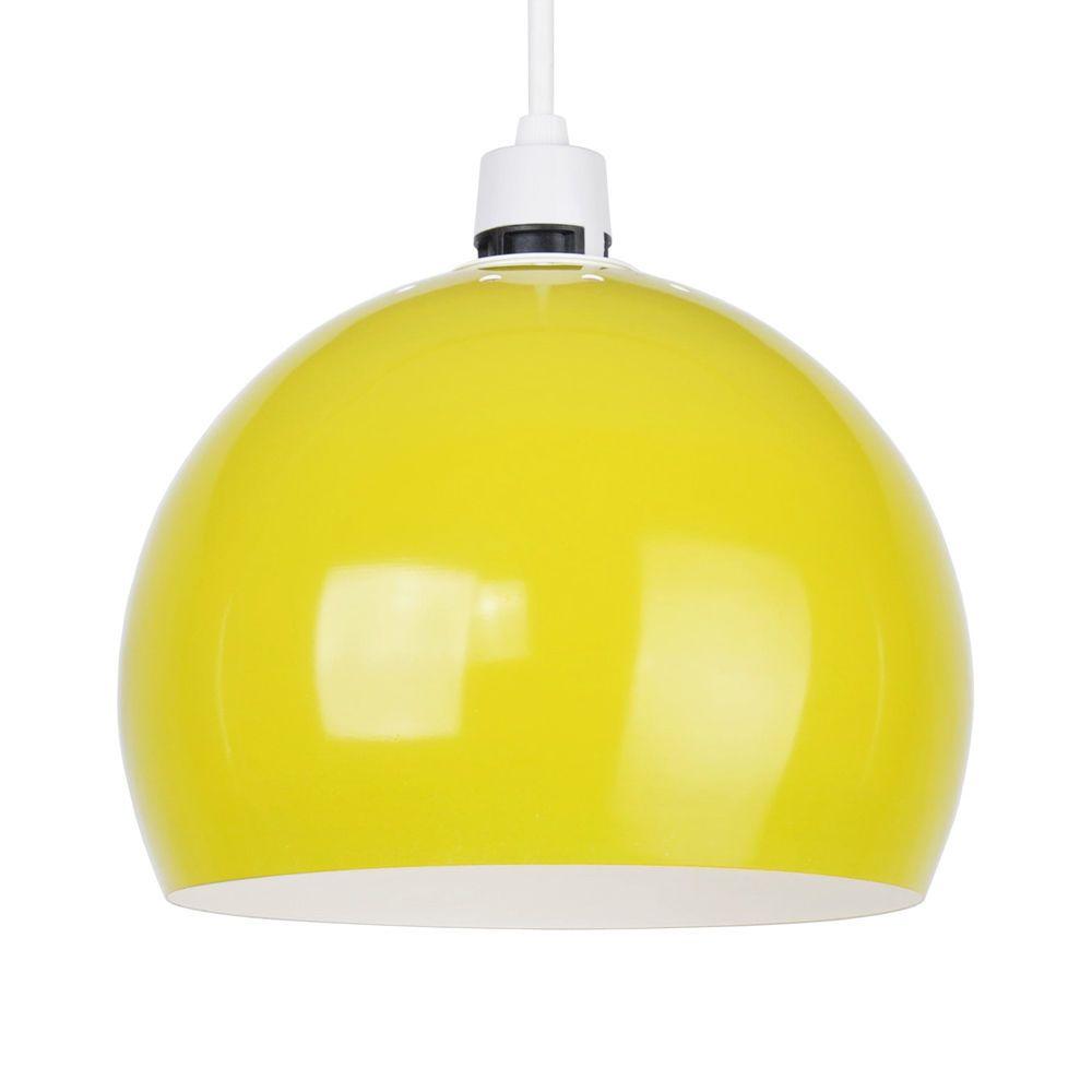 Retro Style Gloss Yellow Metal Ceiling Pendant Light Lamp Shade Lampshade Lights Pendant Lamp Shade Small Lamp Shades Pendant Light Shades