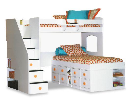 UTICA MIX & MATCH Jr. Captain\'s Bed with dorm loft #bed #children ...