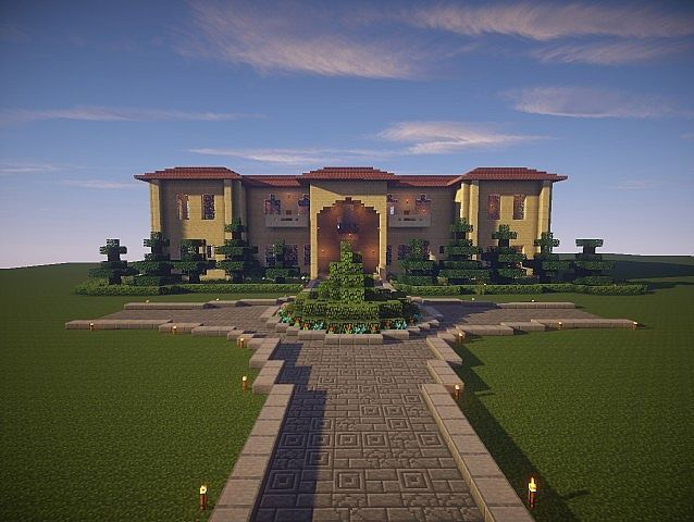 Sandstone minecraft buildings google search villa style - Construcciones coolbuild ...