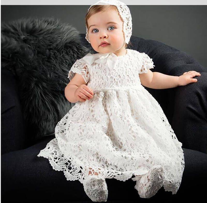Christening dress - Christening gown - baby girl Baptism dress - off ...
