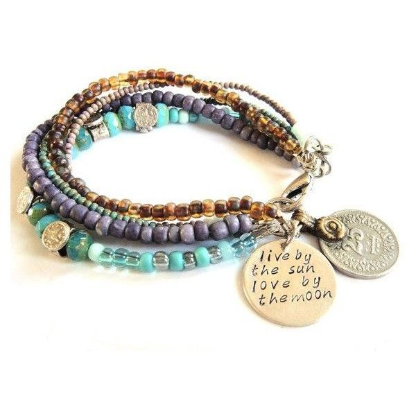 Bohemian Hippie Bracelet With Multiple Strands Of Gl Beads In Liked On