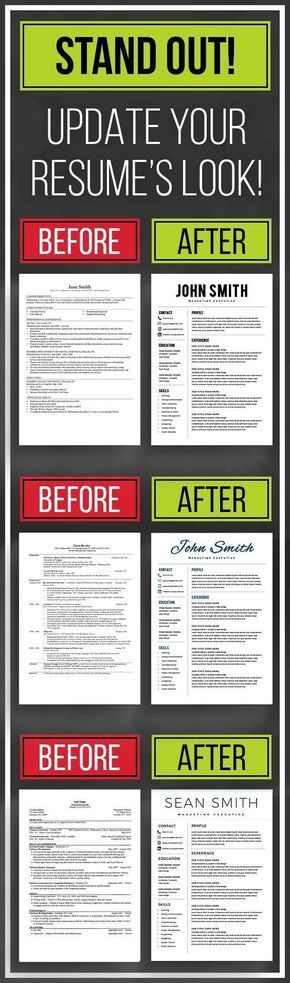 STAND OUT with resume template, resume templates word, cv template - simple resumes templates