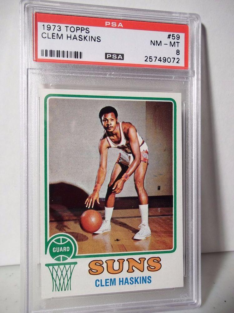 1973 Topps Clem Haskins PSA NMMT 8 Basketball Card 59