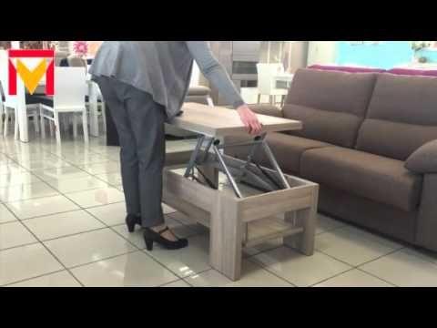 Mesa de centro convertible en mesa de comedor - YouTube | muebles ...