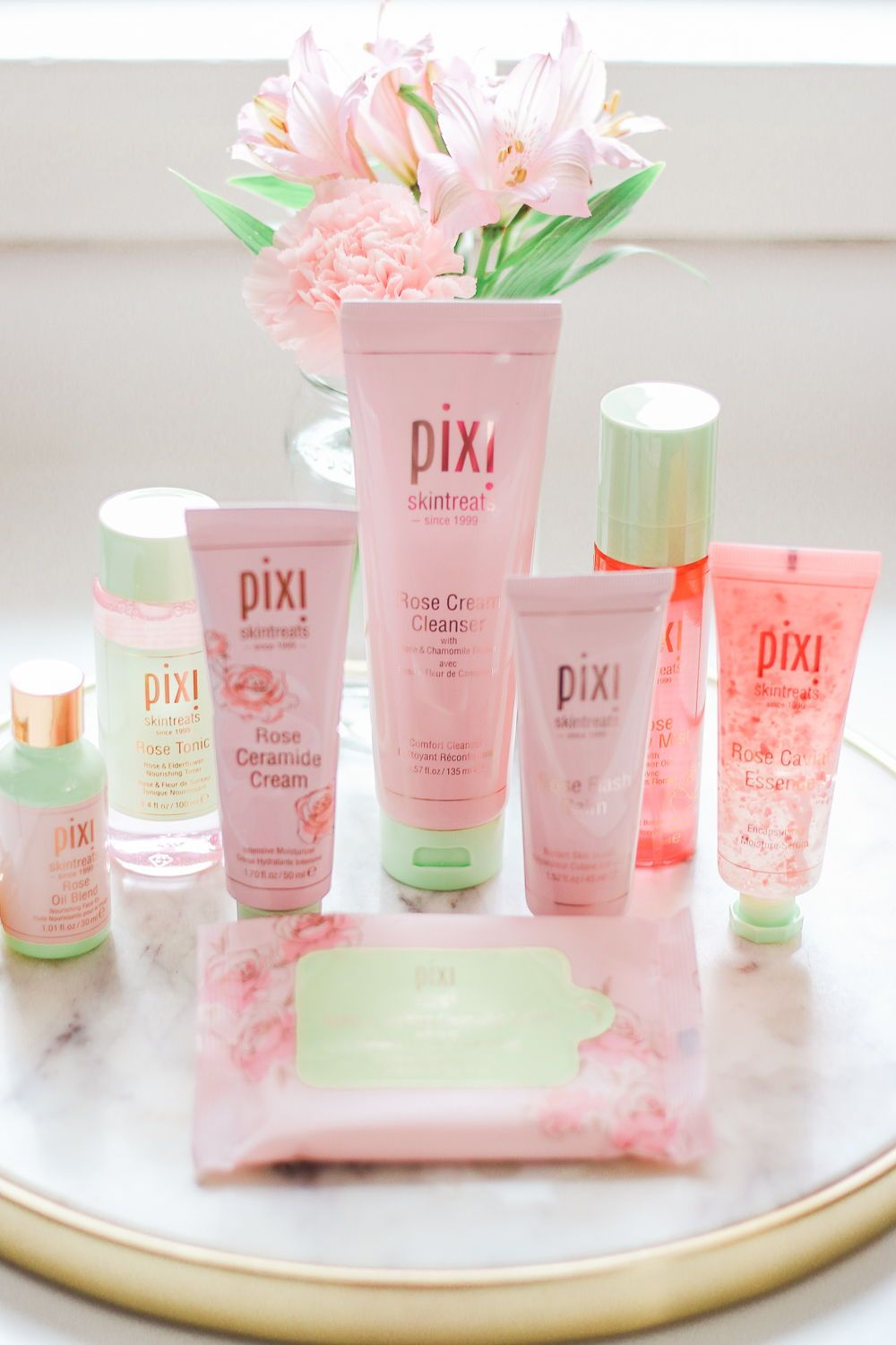 RoseInfused Skincare Picks Best Pixi Products for Dry