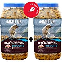 Meat Up Mutton Flavour Real Chicken Biscuit Dog Treats 500g Jar