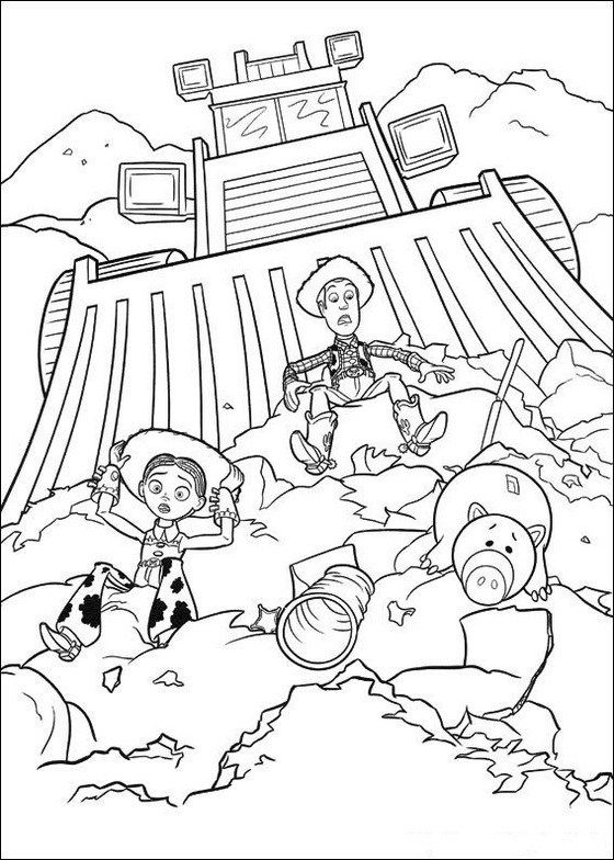The toy that saved christmas coloring pages ~ toy story 4 coloring page | Coloring Pictures | Toy story ...
