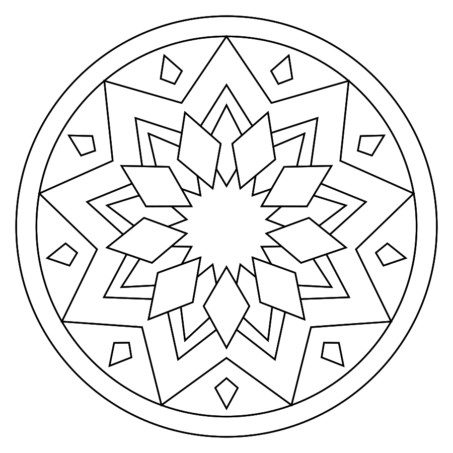 Print Mandala Coloring Pages Mandala Coloring Pages Mandala Coloring Coloring Pages
