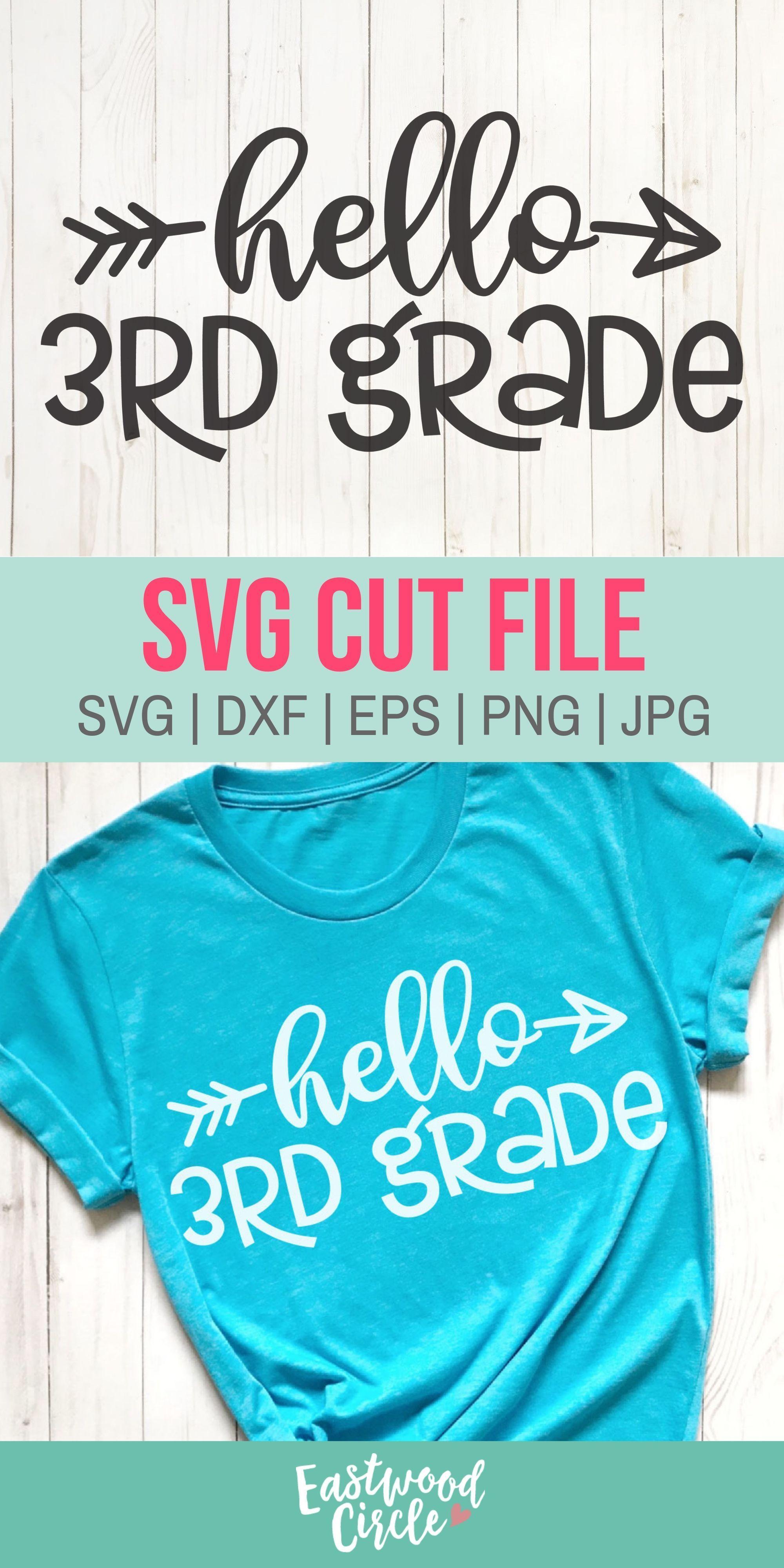 Hello 3rd Grade Svg Hello Third Grade Svg 3rd Grade Svg Etsy Svg How To Make Tshirts Teacher Treats