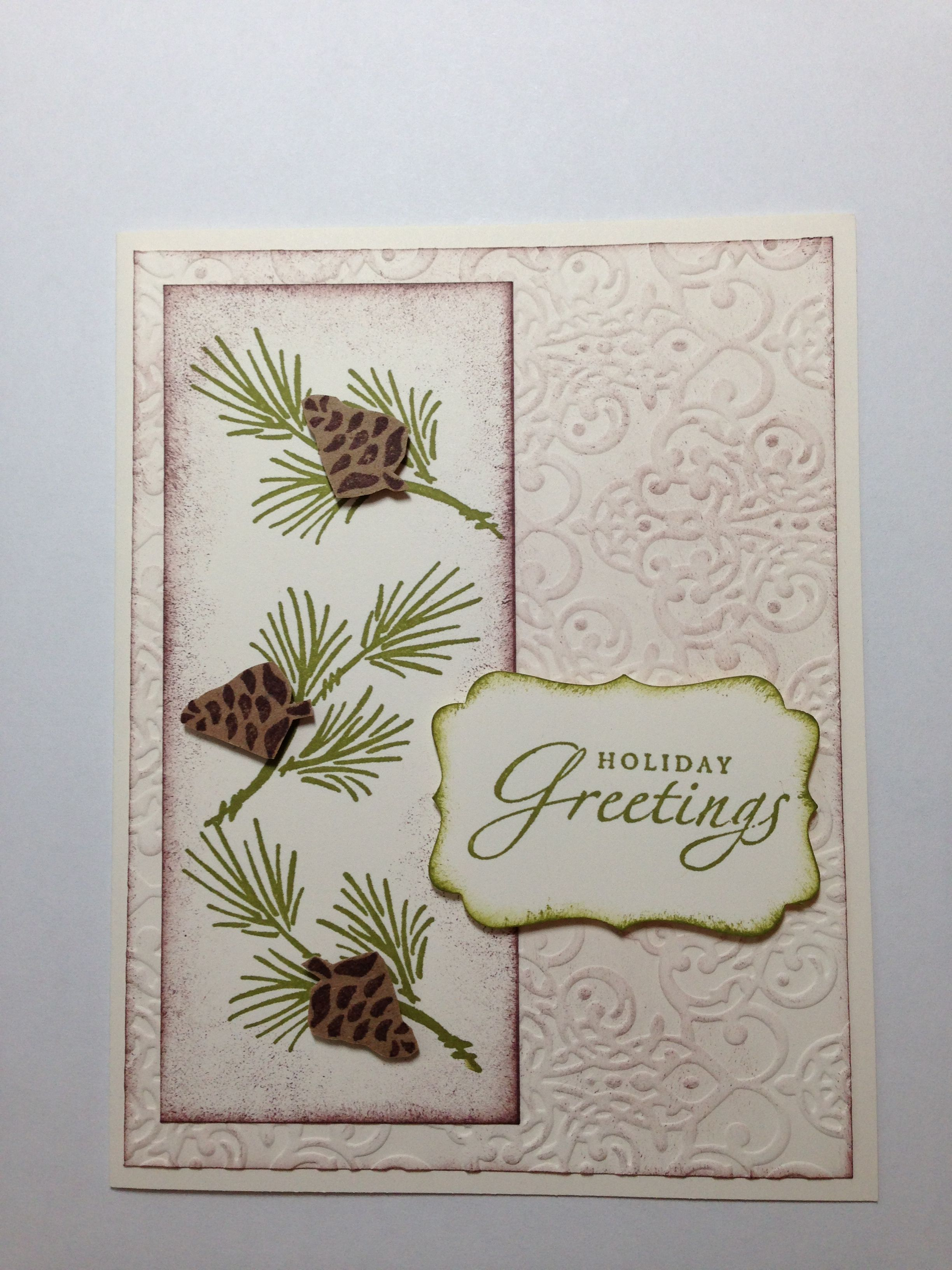 Stampin' Up! Christmas card