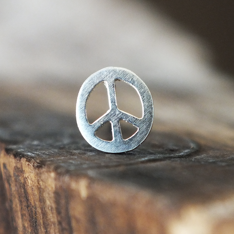 jewelry stud featuring earrings hnl peace by orelia on liked pin polyvore sign