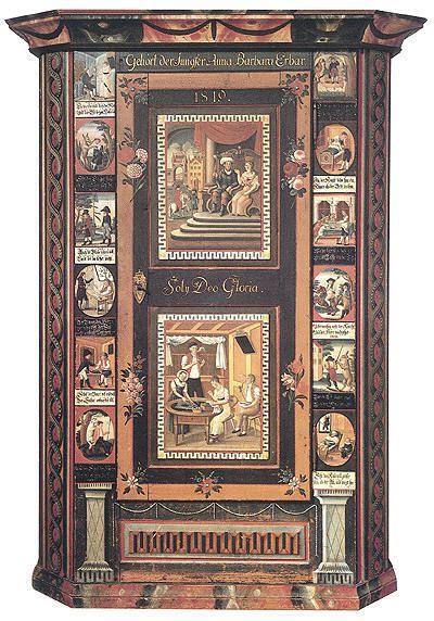 armoire peinte de conrad stark peinture sur bois pinterest meubles peints peindre et meubles. Black Bedroom Furniture Sets. Home Design Ideas