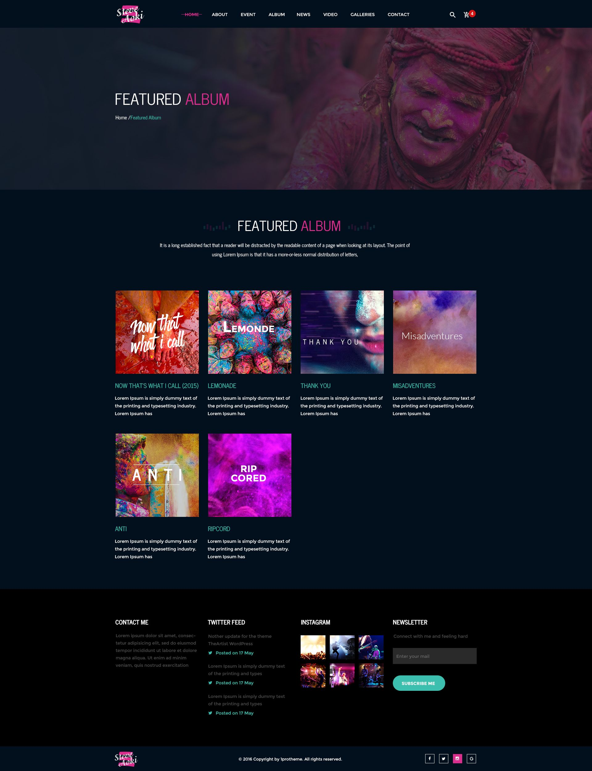 Po Album Template Psd | Steve Cadey Modern Stylish Music Event Psd Template Pinterest