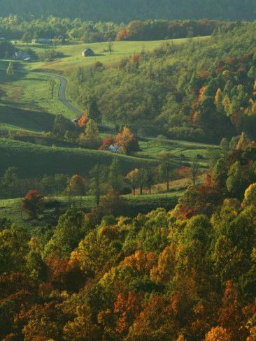 Autumn, Blue Ridge Parkway, Virginia, USA Photographic Print by Charles Gurche at AllPosters.com