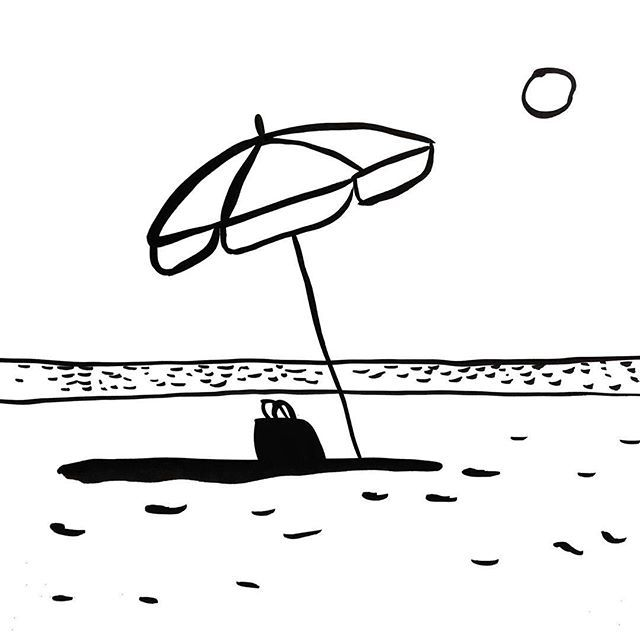 Picame parasol sun beach soleil plage cremesolaire - Dessin parasol ...