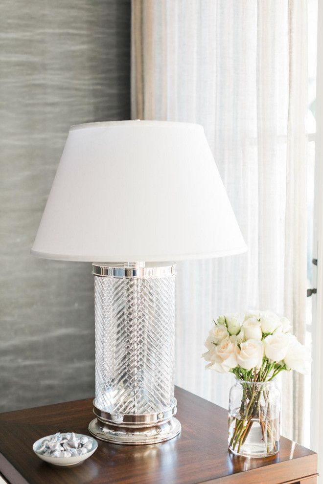 Love The Lamp For My Nights Stands Ethan Allen Herringbone Crystal Table HGTV Dream Home 2016 Living Room