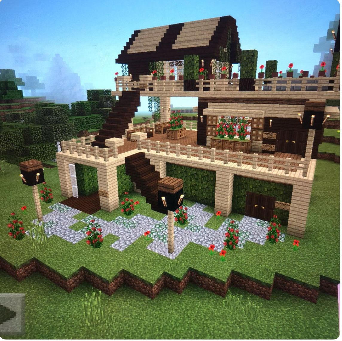 Картинки домов в Майнкрафте