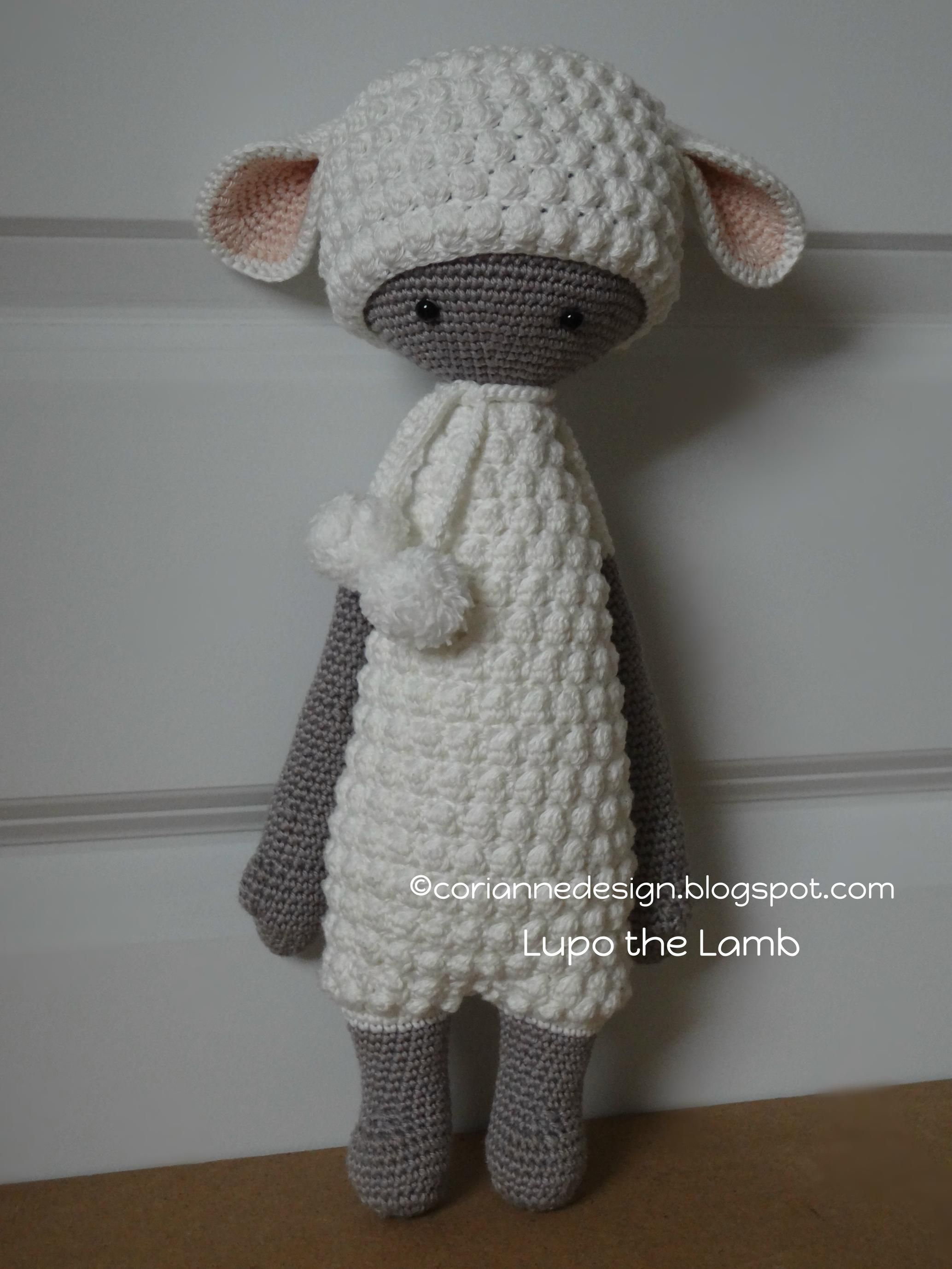 "Lupo the Lamb ""This doll is handmade by Corianne (CorianneDesign) from a design and pattern by lalylala handmade . Lydia Tresselt / www.lalylala.com"""