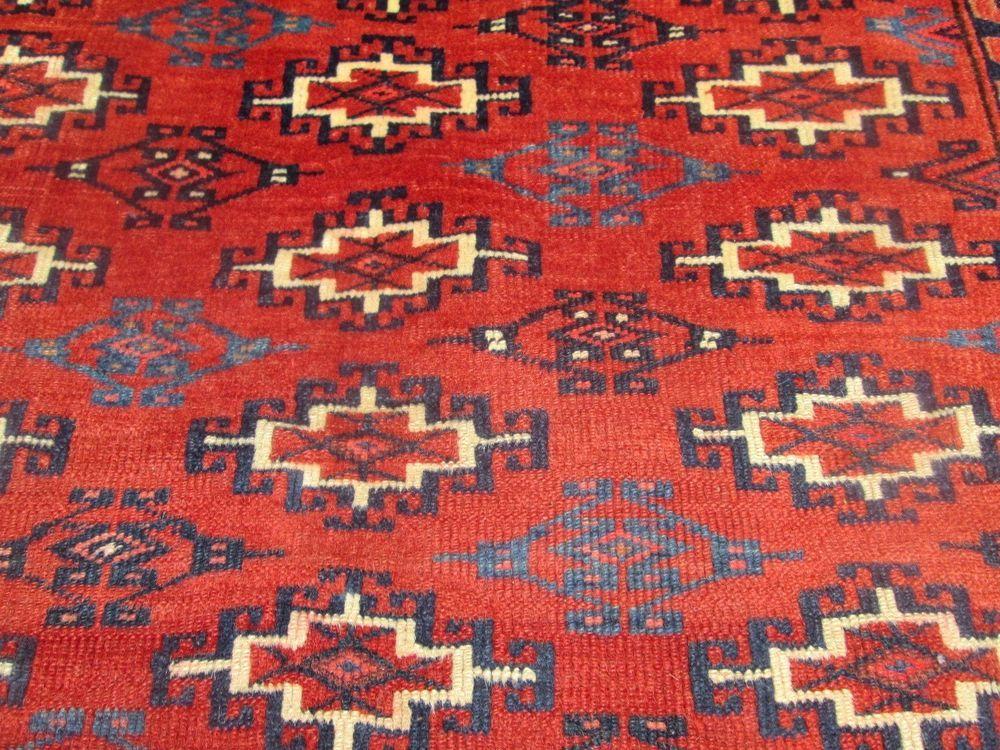 Antique Turkoman Chuval Oriental Tribal Rug 30 X 47 Fine Weave Hyde Park Estate Turkoman Venetian Mirrors Tribal Rug Antiques