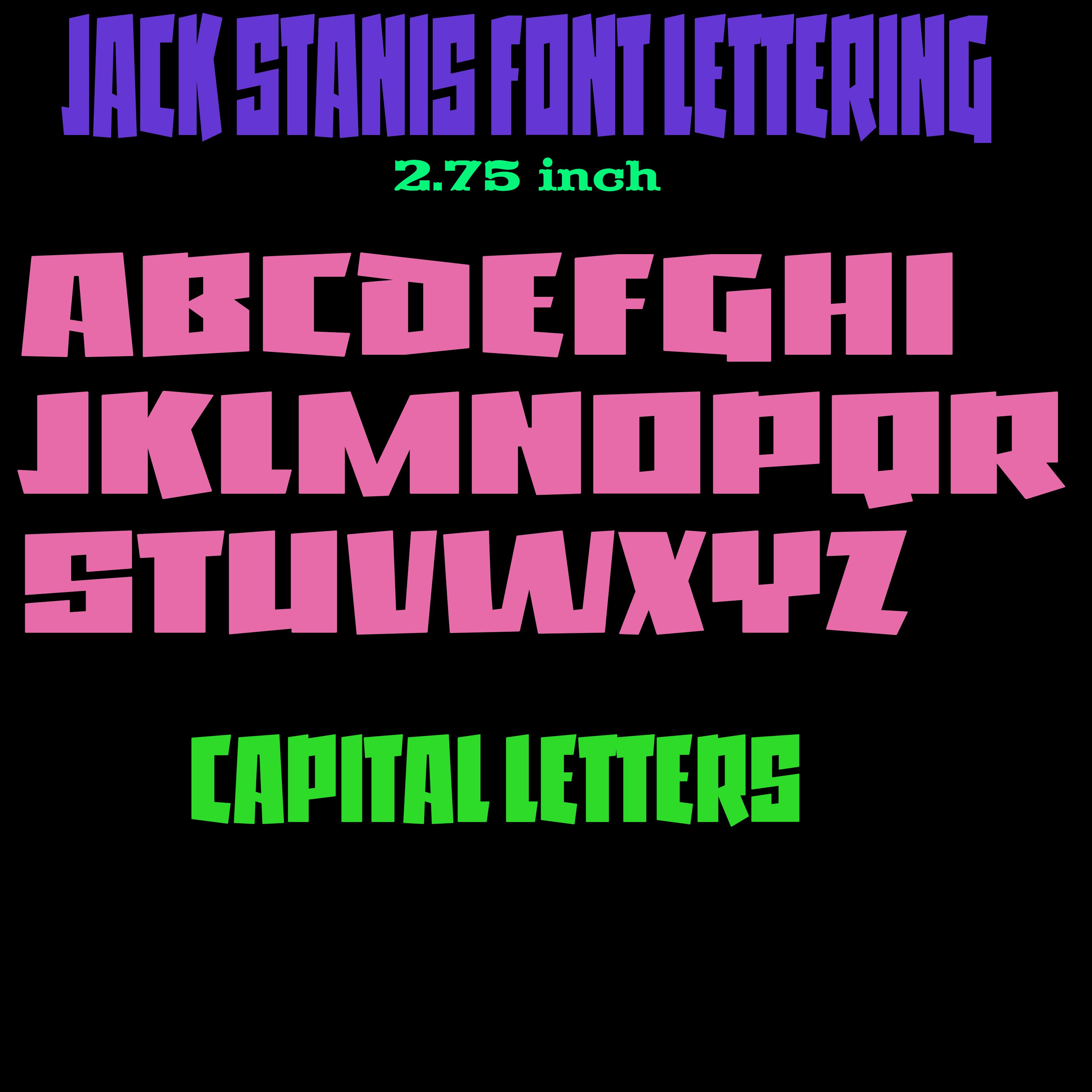Jack Stanis Font Vinyl Lettering 2 75 Inch Handmade Vinyl Letters Outdoor Uv And Weather Resistant Price Is Per A Lettering Vinyl Lettering Custom Letters