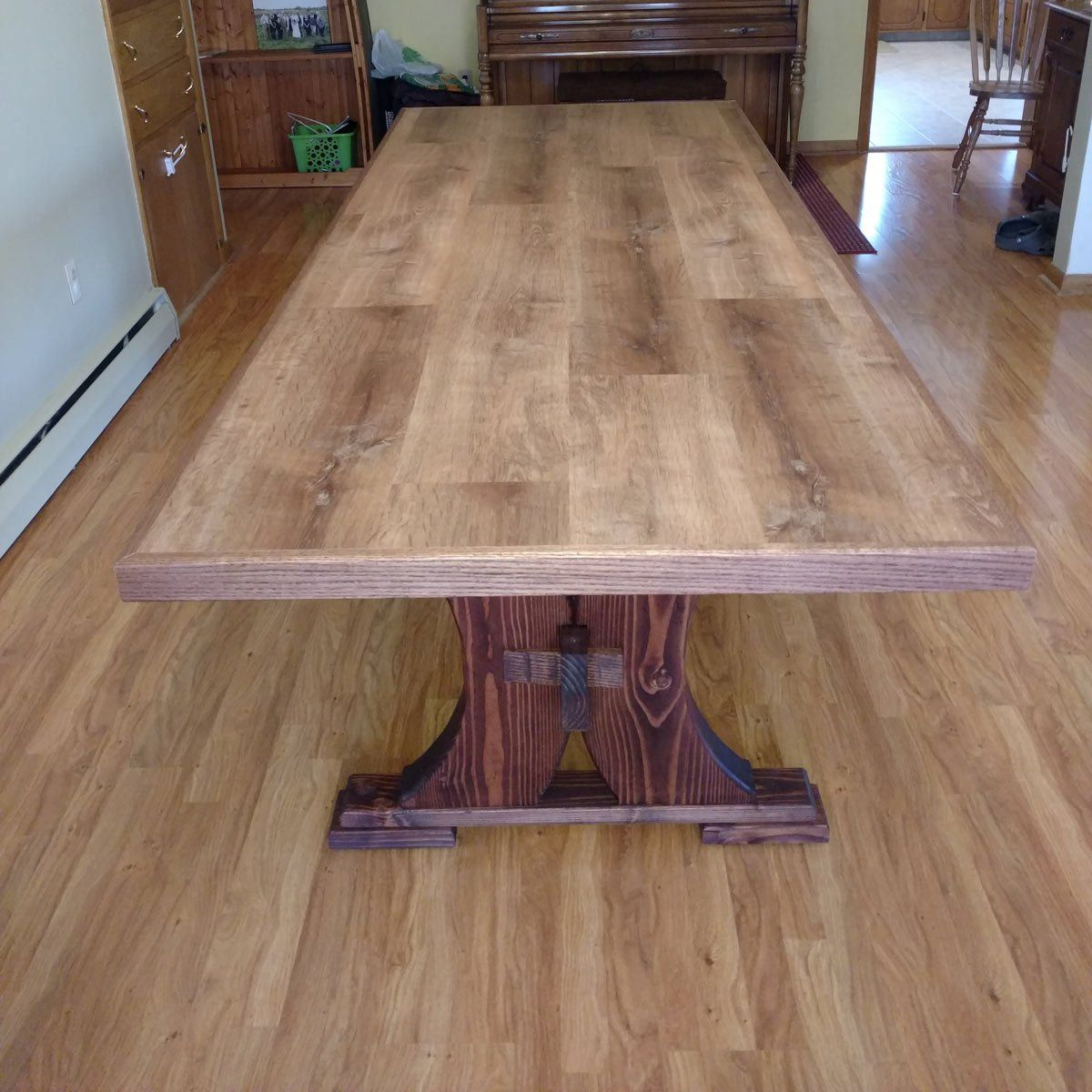 Reader Project Modified Viking Table And Bench Table Dining
