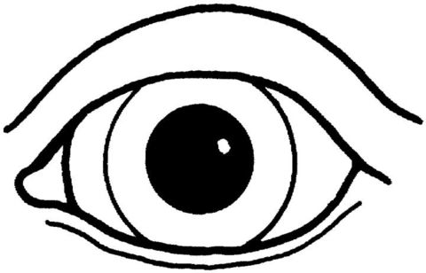 Eyeball Pictures Free Printable An Eye Coloring Page Coloring