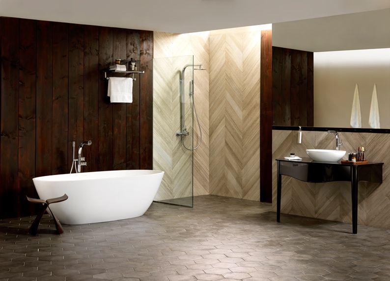 The modern Terrassa bath and Lavello 114 Glass vanity look great ...