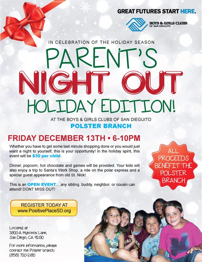Parents night out flyer fundraiser baskets pinterest for Parent flyer templates