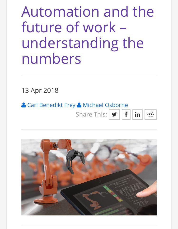 Automation Y Las Cifras De Osborne Por Que Hay Tanta Diferencia Discrepancia Entre Unos Estudios Que Dicen Que El 14 De L Understanding Automation Employment