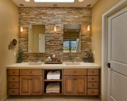 salle de bain pierre et bois : une beauté naturelle | mosaic tile