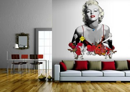 Wouldn 39 t use marilyn but i like the large print colorful for Celebrity mural