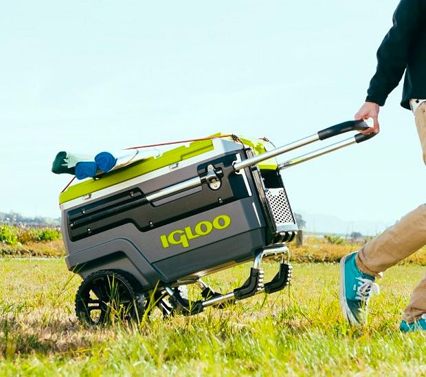 Igloo All Terrain Cooler Fishing Cart Camping Packing