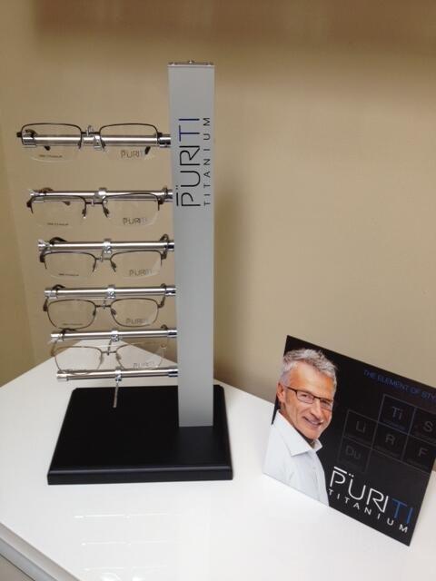 The new PuriTI titanium line, at Costa Mesa Optometry