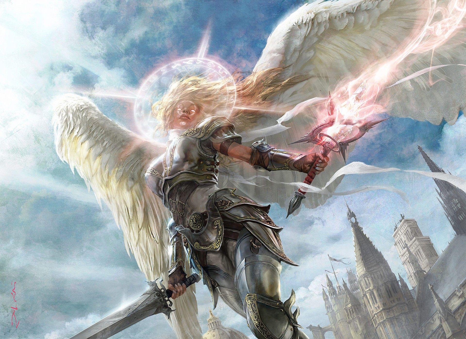 Game Magic The Gathering Wallpaper Anjos E Demonios Anjos