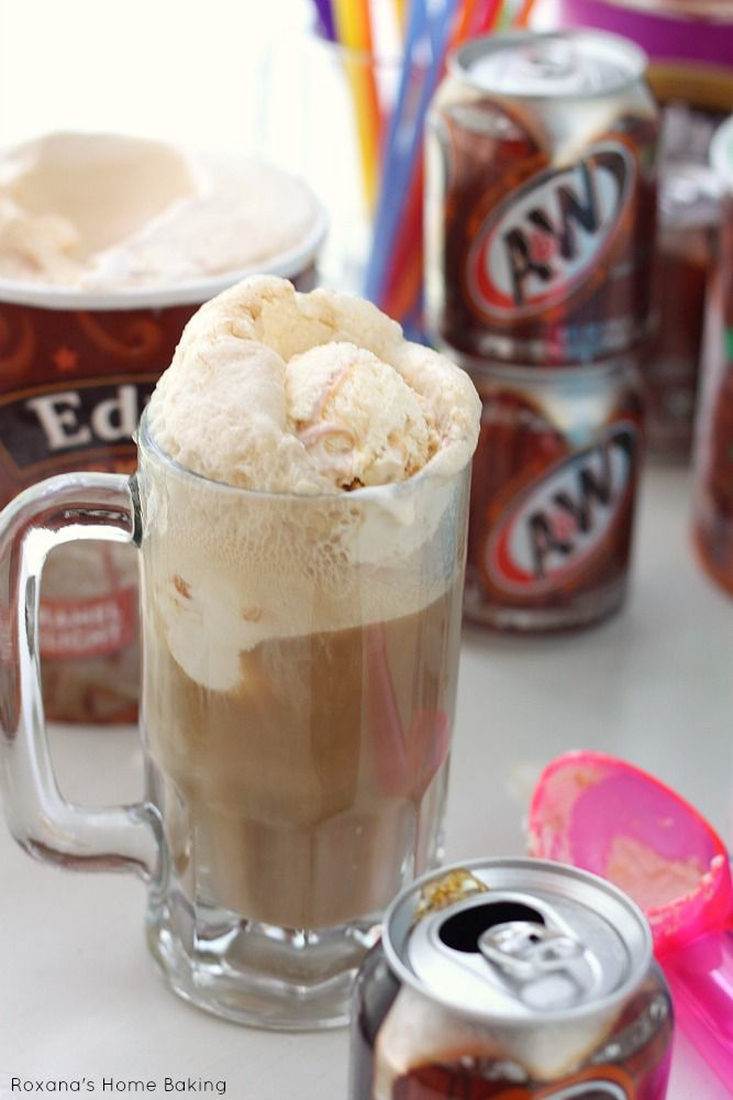 A&W Root Beer Floats #rootbeerfloat