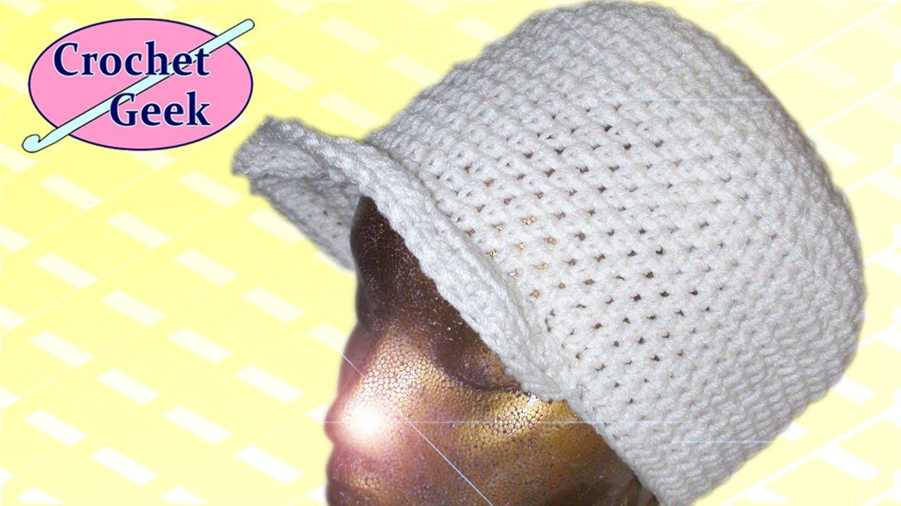 Crochet hat with brim crochet geek httpsyoutubewatchv 27 crochet hat video tutorials by crochet geek this one is crochet hat with brim it will lead you to the other 26 videos baditri Image collections